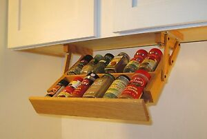 Under Cabinet Mini Spice Rack Ultimate Kitchen Storage