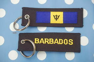 Barbados-Schluesselanhaenger-Anhaenger-Flagge