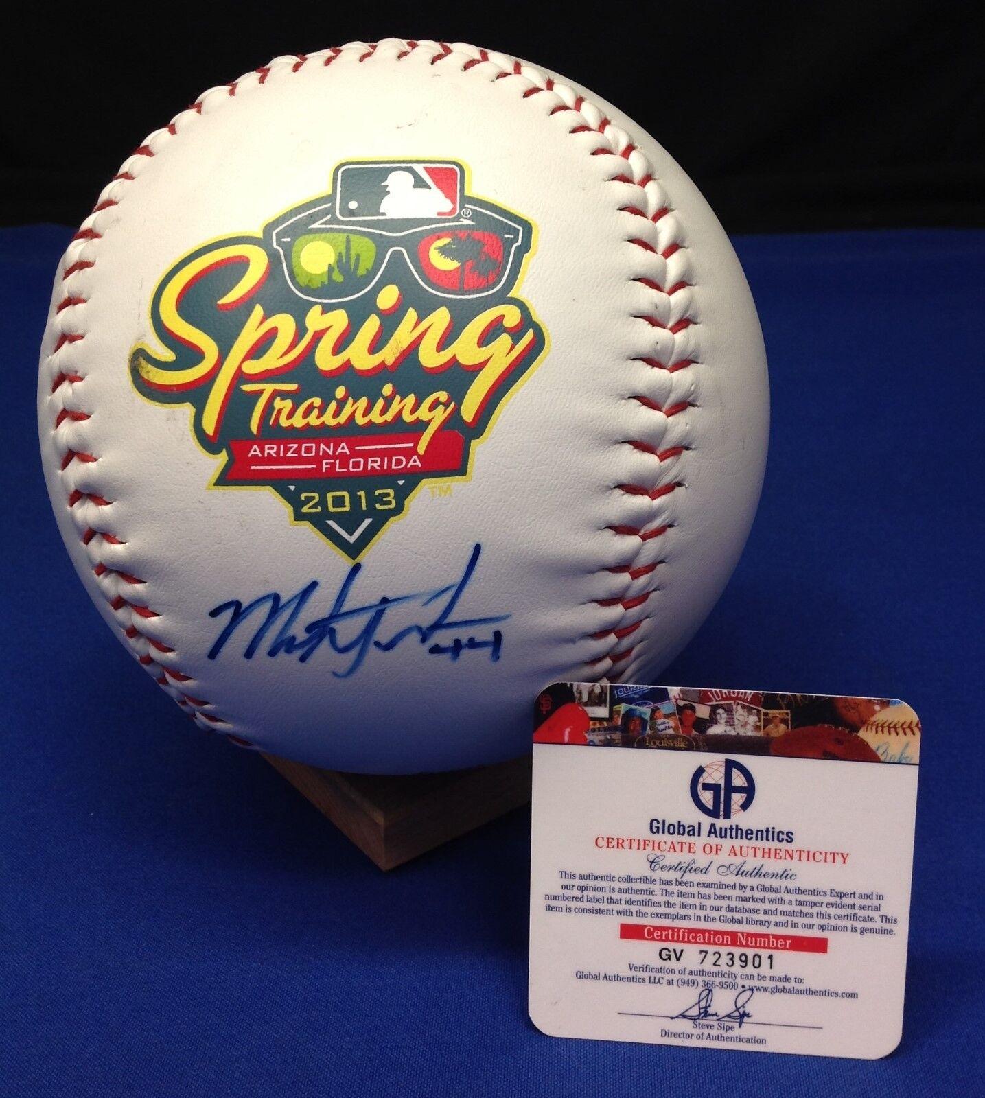 MARK TRUMBO Signed Jumbo-Sized Rawlings MLB Baseball - GA # GV723901