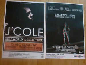 J-Cole-live-music-memorabilia-Scottish-tour-Glasgow-concert-gig-posters-x-2