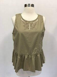 Green New Embroidered está Ash Madewell La imagen Peplum cargando Tank Top 4O7wn6vxq