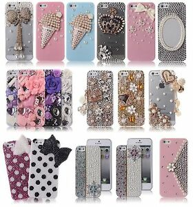 iPhone 5 5s Case Cute Bling Crystal Sparkly Rhinestone Cover for ... 39d959d99