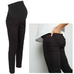 Maternity-New-Look-Over-Bump-Skinny-Jeggings-Black-Sizes-8-20-CURRENT-LINE