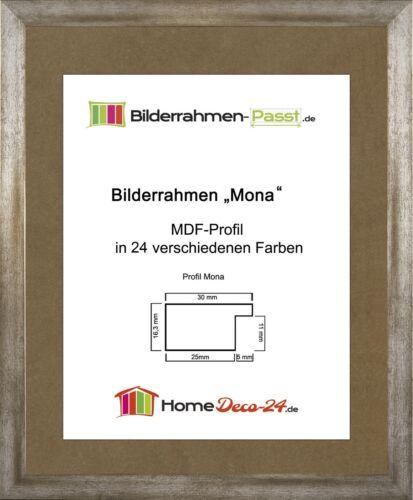 Mona 65 x 80,5 cm Bilderrahmen Homedeco 24 Holzwerkstoff Wahl Farbe Verglasung