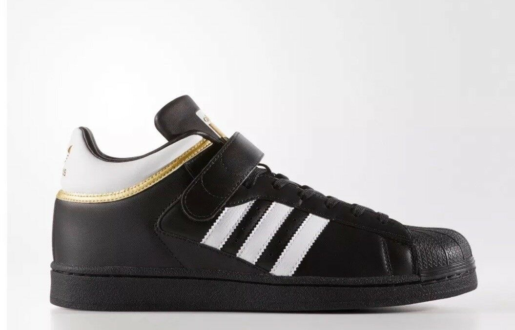 Adidas Originals Pro Shell Core Black White gold Mens shoes BY4381 Size 9US