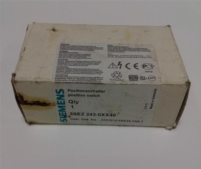 NSOP SIEMENS 3SE2-243-XX40 SAFETY INTERLOCK SWITCH 4A//230V 3ZX1012-0SE32-1AA1