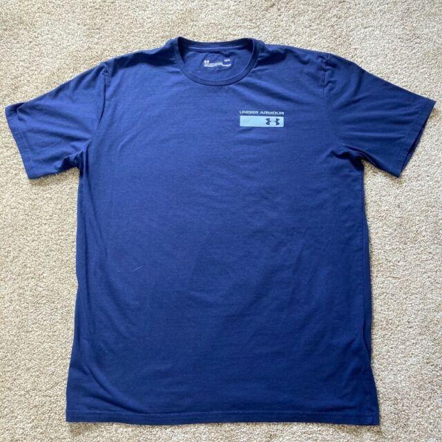 Under Armour Mens Athletic Heat Gear T-Shirt Blue Active/Training Excellent