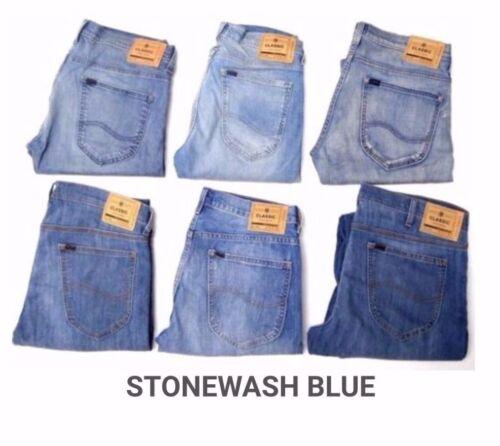 usine Secondes Homme Ex Lee Slim//Skinny Fit Stretch Jeans RRP £ 85 L150