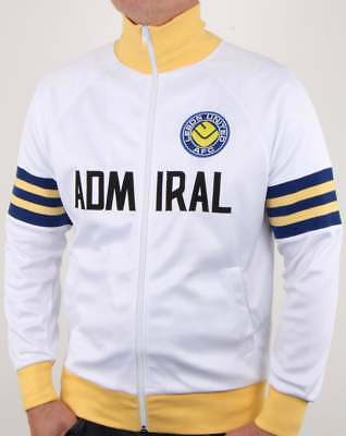 Leeds United 1978 Admiral Retro Track Top In White Yelow & Blue Activewear Official Track To Have A Long Historical Standing