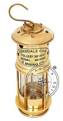 ANTIQUE VINTAGE STYLE BRASS MINER LAMP HANDMADE SHIP LANTERN OIL LAMP