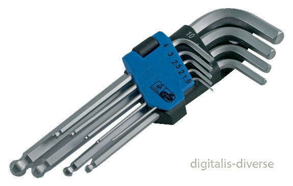 Imperial 9 Piece Ball Ended Allen Key Hex Set SENTTODAY