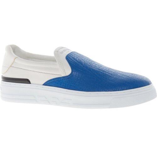 reptile de Bleu bleu cuir enfiler Emporio créateur à Armani en de Chaussures nxFqgXIcx
