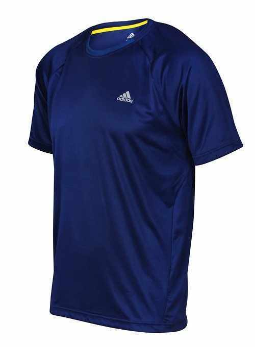 Mens Adidas T Shirt Climalite αναπνΡύσιμο τρέξιμο κορυφαία αθλητικά γυμναστΞ�ριο Ρλαφρύ τσάι