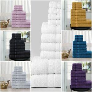 GIFT SET 10 PCS TOWEL BALE SET 100% COTTON TOWEL SETS HAND BATH & FACE TOWELS