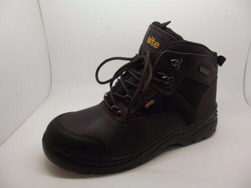 NEW SITE ONYX SAFETY WATERPROOF WORK BOOTS STEEL TOE UK 7-12 BLACK or BROWN
