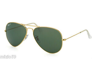 SUNGLASSES-RAY-BAN-AVIATOR-3025-001-58-POLARIZED-55-small-size