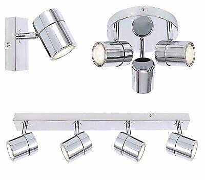 Ceiling triple bar Spotlight in white 3 way tiltable GU10 bulb holder included