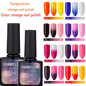 New-BELLE-FILLE-Chameleon-Temperature-Color-Change-Nail-Gel-Polish-Soak-off-UV