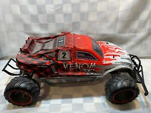 NEW-BRIGHT-RC-Body-Chassis-Wheels-Car-VENOM-27-034-x-16-034