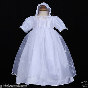 Image is loading White-Infant-Baby-Girl-Baptism-Christening-Gown-Dress- 4daa22c52cd