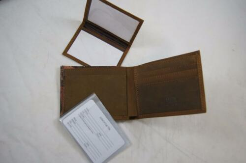 ZEP PRO Alabama Elephant RTR Crazy Horse Leather Bifold Wallet Tin Gift Box