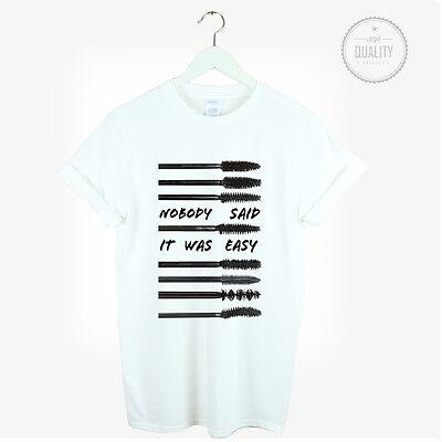 Mascara Tshirt Top Nobody Said Fashion Tumblr Gift Celine Vogue Hipster