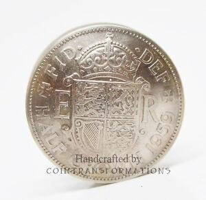 British-Half-Crown-Coin-Screw-Lid-Pill-Box-Anniversary-Keepsake-Gift-Snuff