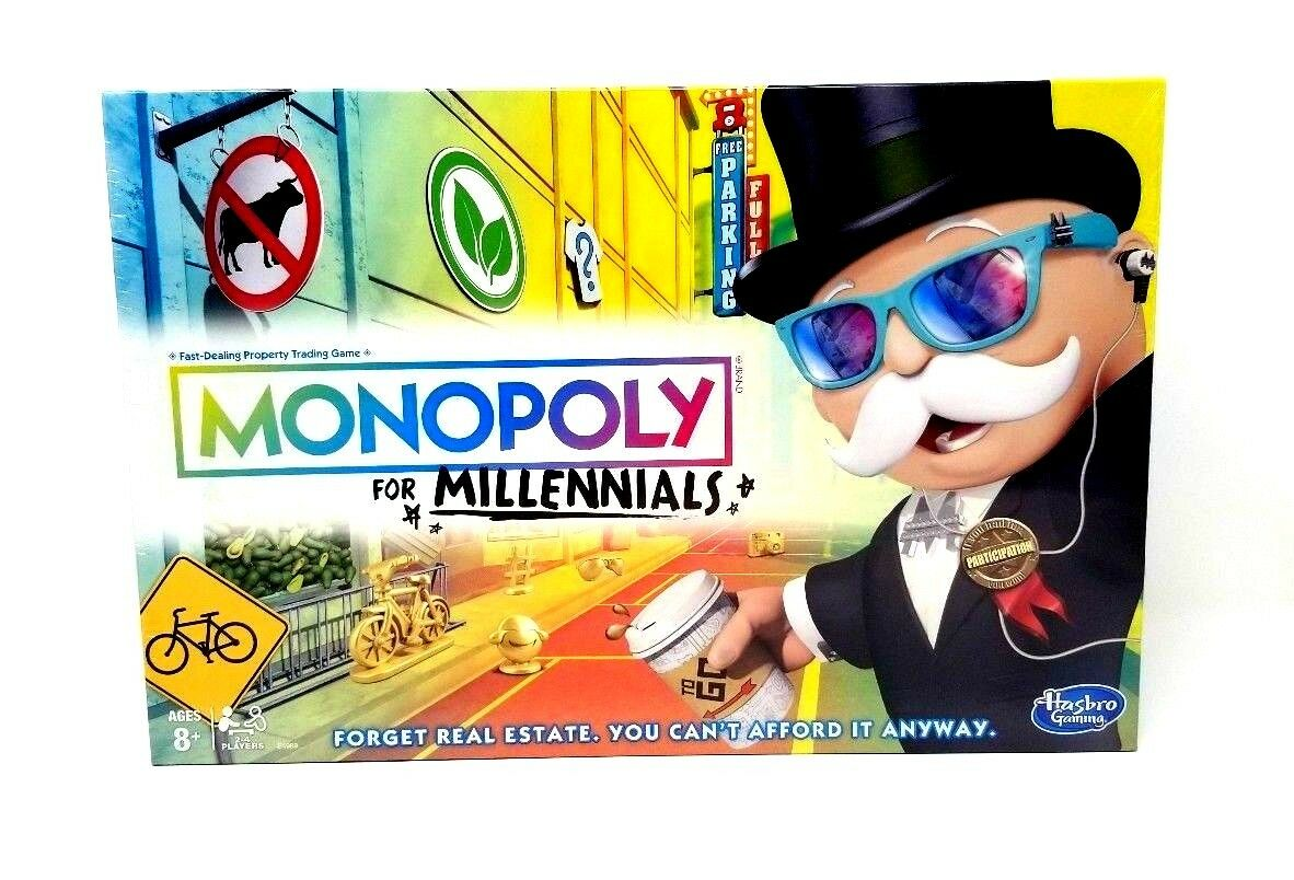 New Monopoly for Millennials Edition Board Game Hasbro Christmas Must Have VHTF