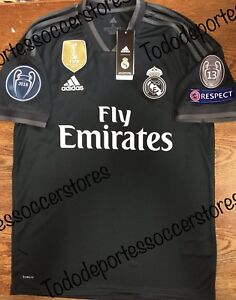 efe999d38 adidas Real Madrid 2018-2019 Away Soccer Jersey With Champions ...