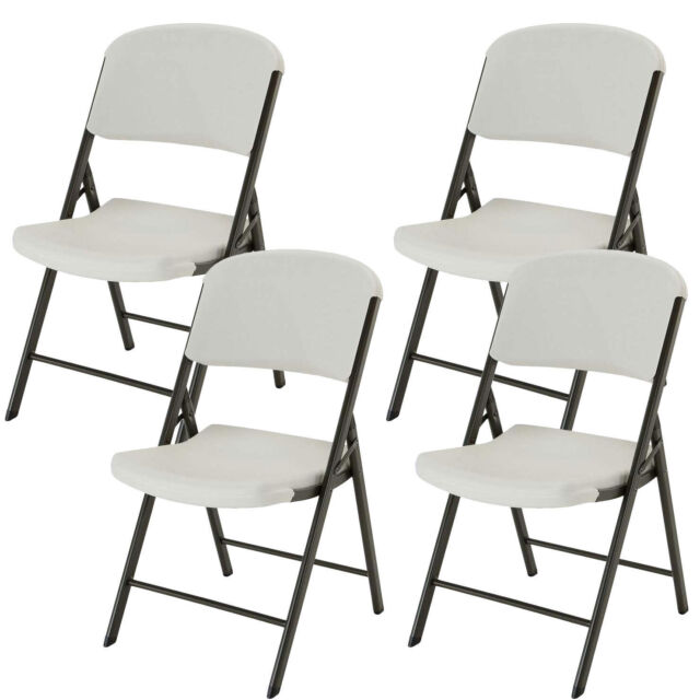 Fantastic Lifetime Commercial Contoured Folding Chair White Or Almond 4 Pack Pdpeps Interior Chair Design Pdpepsorg