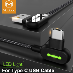 Mcdodo-LED-USB-C-Type-C-3-1-QC-Quick-Charger-Fast-Charging-Data-Sync-Cable-Cord