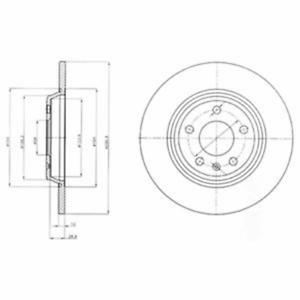 2 Stück Delphi BG4081 Bremsscheibe