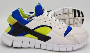 Nike-Huarache-Free-Run-Trainers-510801-101-White-Blue-Green-UK9-5-US10-5-EU44-5