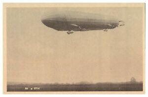 Antique-WW1-military-German-printed-postcard-Zeppelin-airship-blimp
