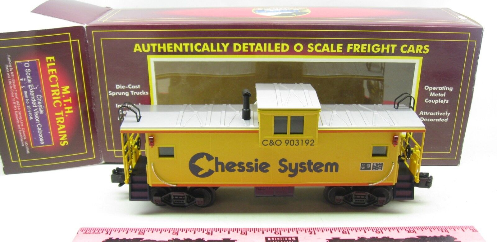 MTH  20-9104L Chessie O Scale Extended Vision Caboose