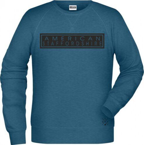 American Staffordshire Hund Raglan Unisex Sweatshirt High Class Hundemotiv