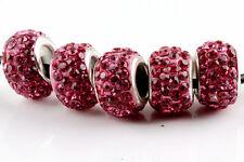 20 Quantity SILVER MURANO GLASS BEADS LAMPWORK Fit European Charm Bracelet DIY