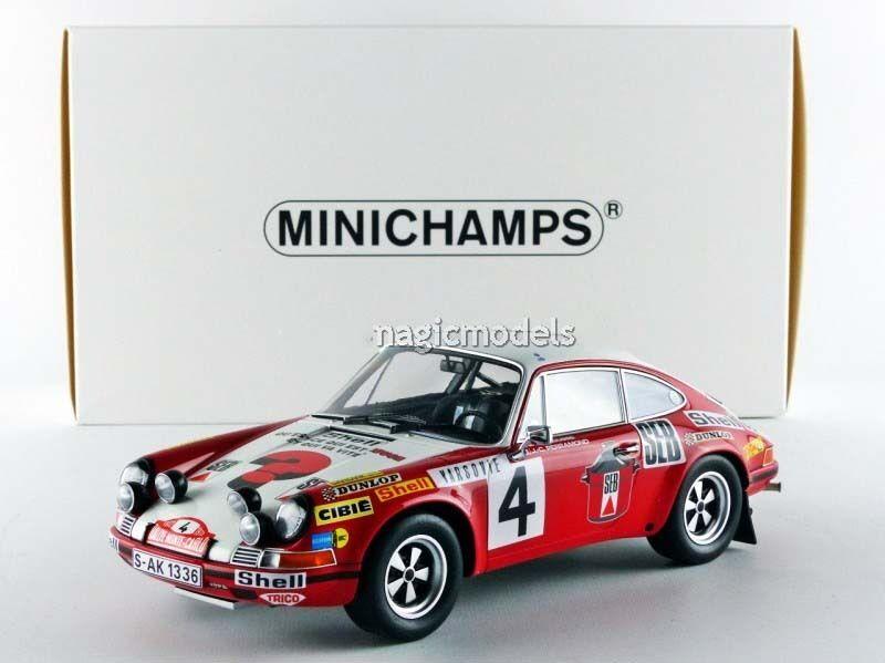 Minichamps Porsche 911S 1972 Rally Monte Carlo Larousse/Perramond  4 1/18 Nuovo