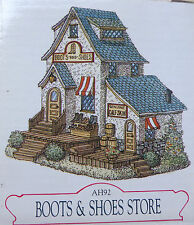 Liberty Falls Colorado Village Figurine AH92 Harvey Boots and Shoes Store in Box