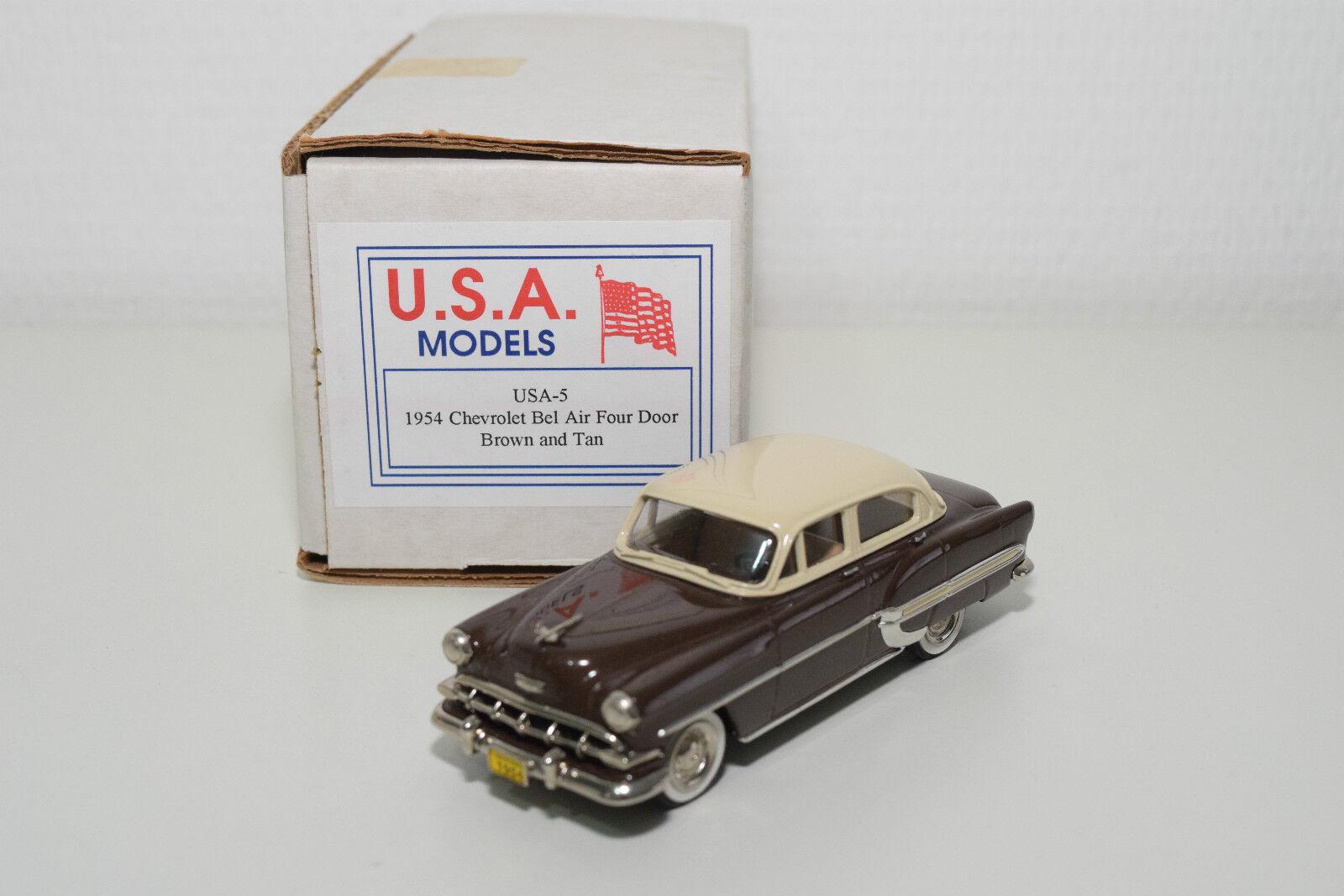 . U.S.A. MODELS MOTOR CITY USA-5 CHEVROLET BEL AIR FOUR DOOR 1954 MINT BOXED