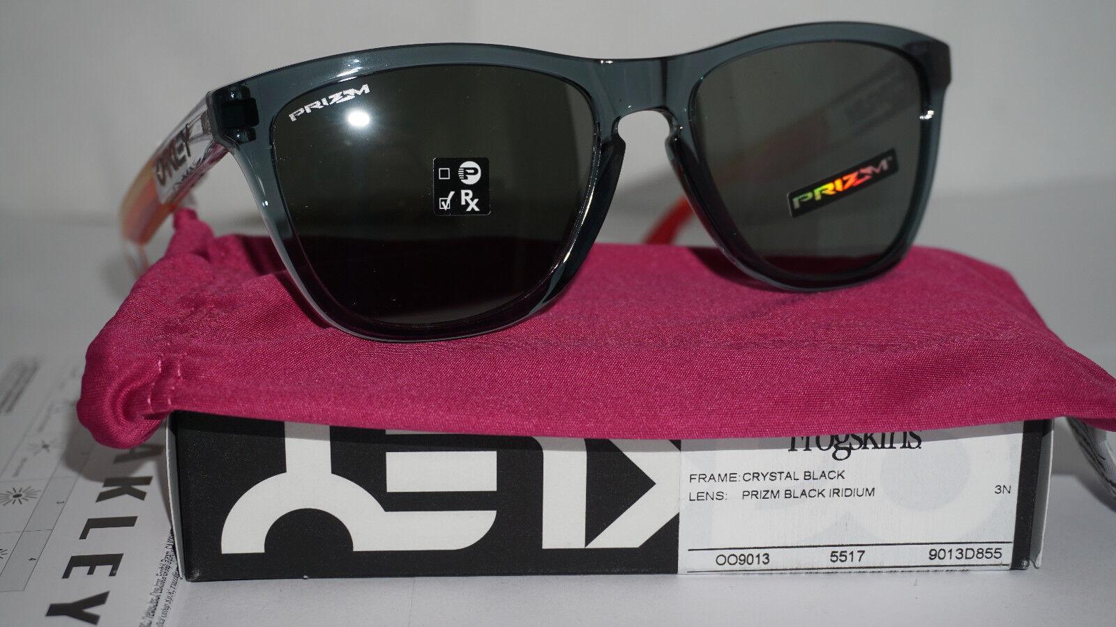 334151dc4c1f Oakley Frogskins Sunglasses Crystal Black prizm Black Iridium Oo9013 ...