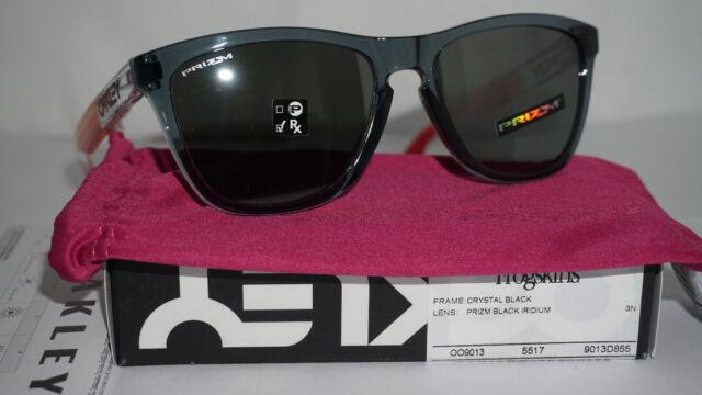 5278cf9d2f2 Oakley New Sunglasses FROGSKINS Crystal Black Prizm Black Iridium  OO9013-D855