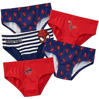 2 X 3 pack Boys SPIDERMAN Briefs PANTS 6-8 years  underwear character knickers