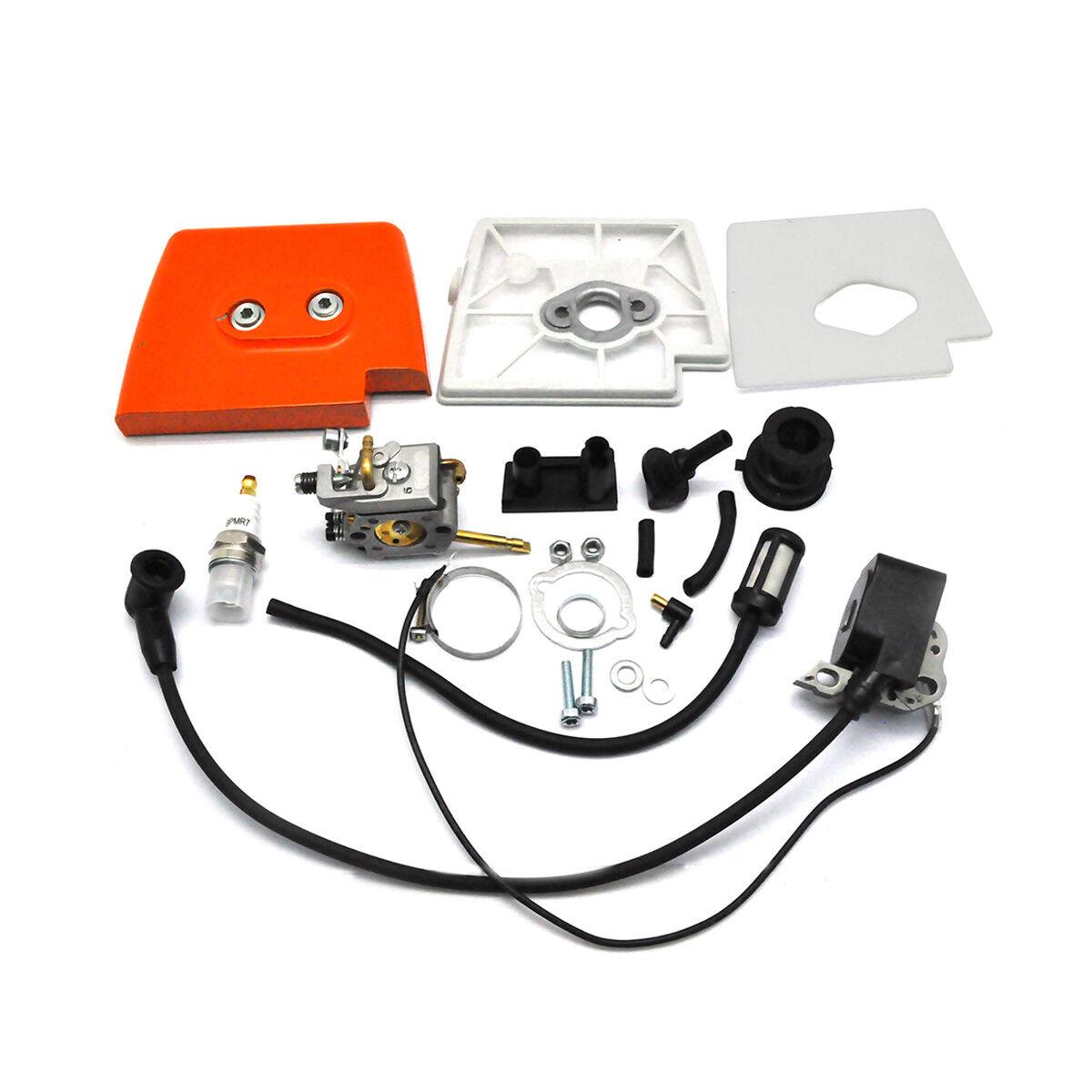Bobina de ignición, Cocheburador, Tapa De Filtro De Aire Para Stihl FS160 FS180 FS220 FS280 Nuevo