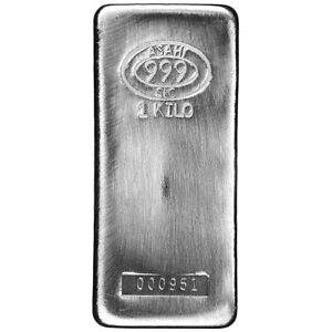 1 Kilo Asahi Silver Bar New Slc Serials 1 1000 Ebay