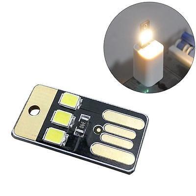 Portable 5V Double Sided Pluggable USB LED Night Light Power Lamp White