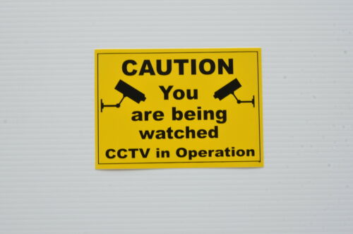Caution You Are Being Watched Self-Adhesive Backed Sticker 210mm x 150mm.