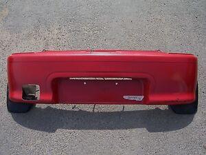 Daihatsu-Cuore-IV-V-L5-L501-Stossstange-hinten-rot-R14-187