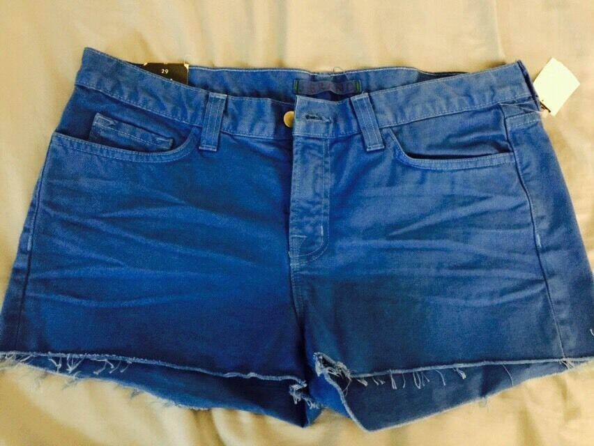 New J Brand Cut Off Shorts bluee Bonnet 29