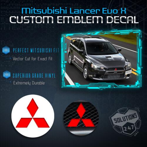 Pure Flat Matte Pre-Cut Emblem Overlay Sticker Front Rear For 08-14 Lancer ALL